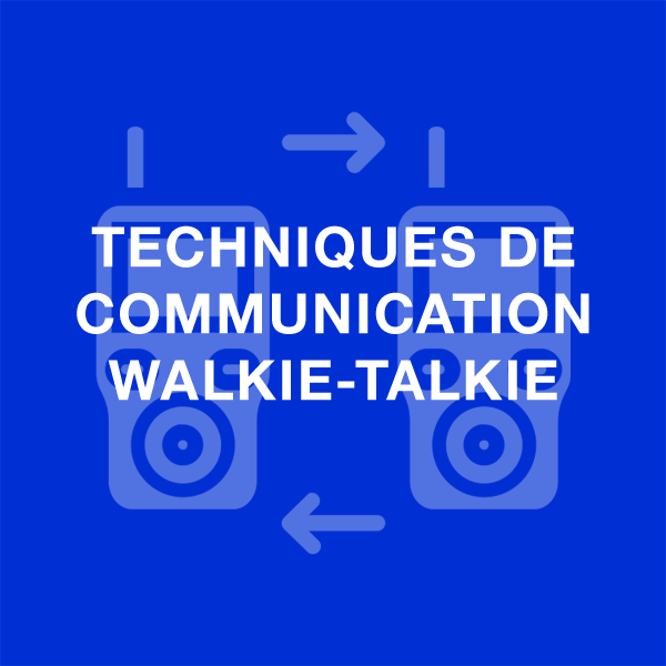 techniques de communication walkie talkie
